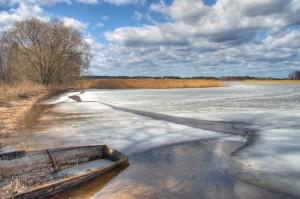 лед еще не сошел